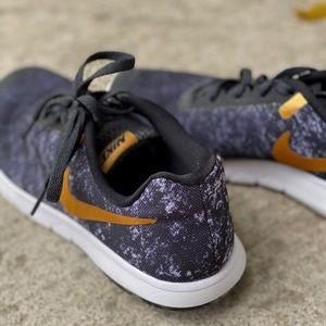 Black White Gold Nike Sneakers